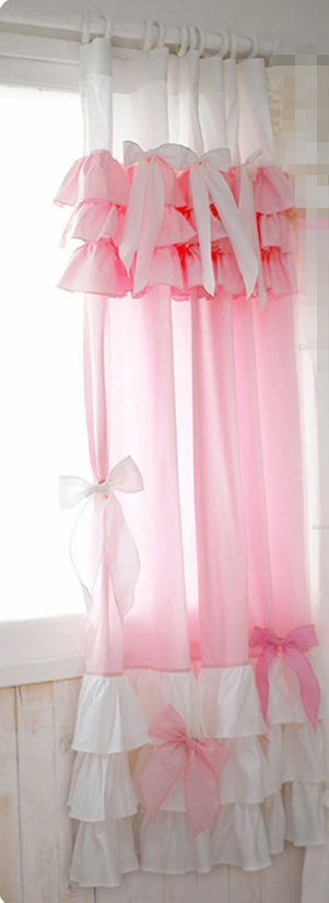 Buy Fashion cake princess curtain sweet valance bow curtains window ...