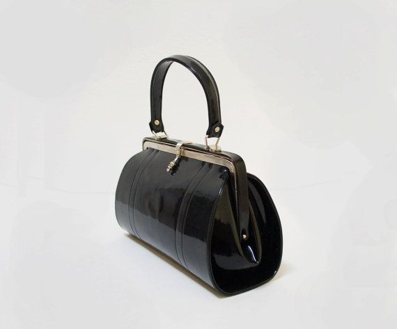 50s Patent Leather Doctor Bag Vintage Purses Bags Vintage Bags