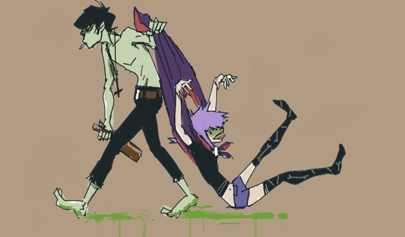 murdoc and noodle relationship