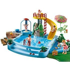 Elegant Amazon.com: Playmobil 4858 Open Air Pool With Slide: Toys U0026 Games