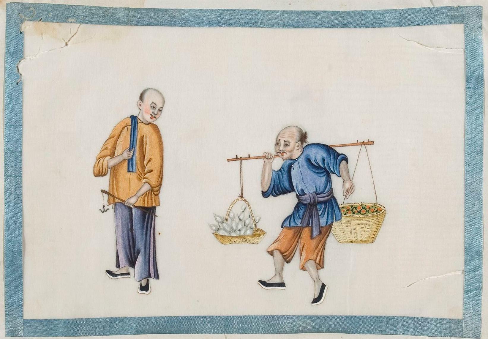 Vendeur de légumes, Chine environ 1850