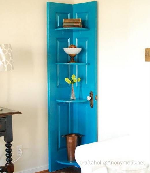 25 Ways To Reuse And Recycle Wood Doors For Shelving Units, Racks And Wall  Decorations