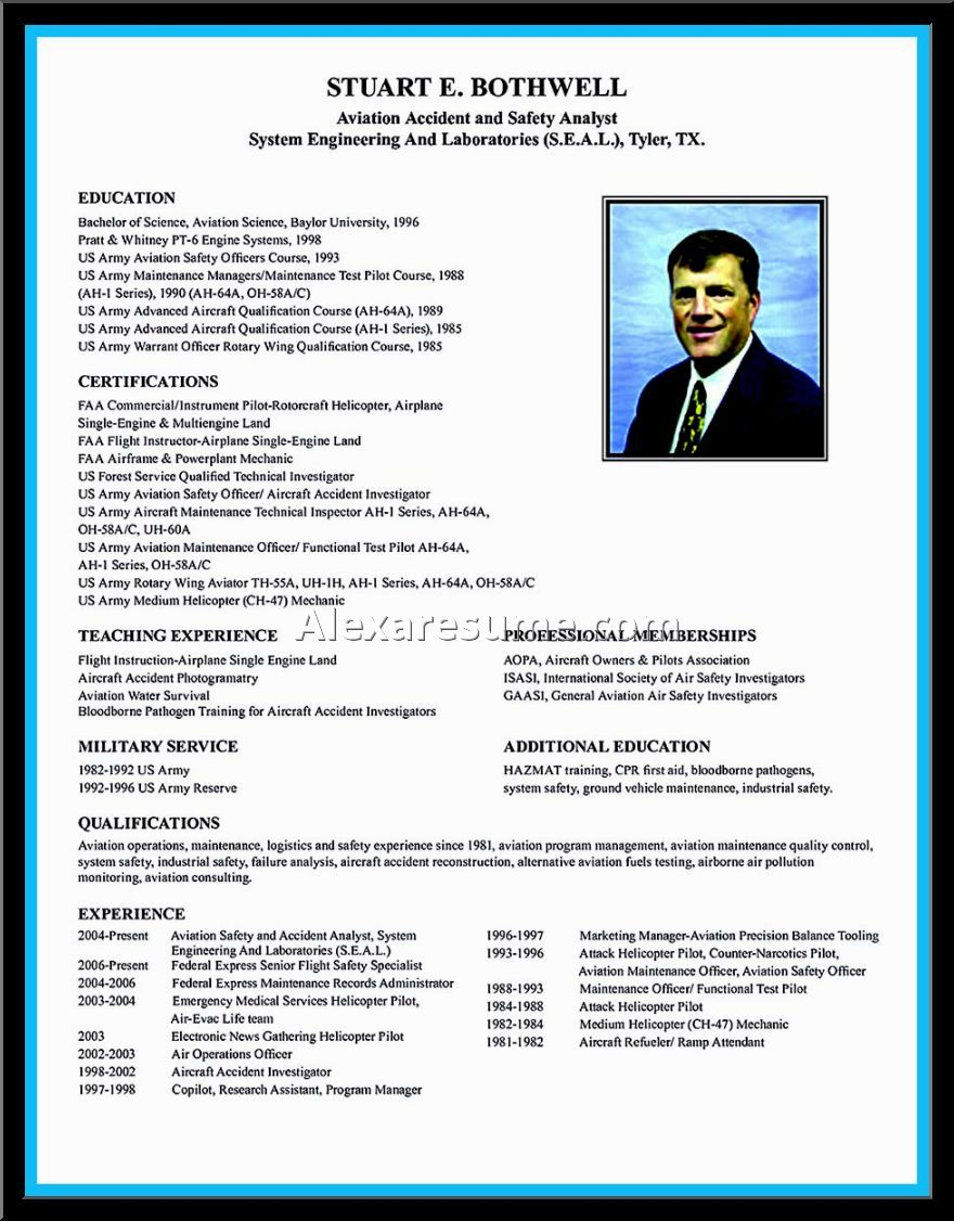 Airline Pilot Resume Template Word Templates Sample Resumes
