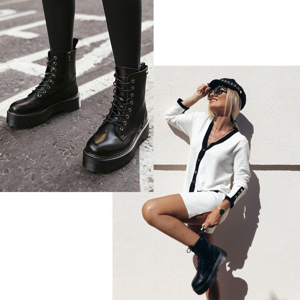 Botas para mujer en color negro. Características con cremallera ... 1269a9ef51b