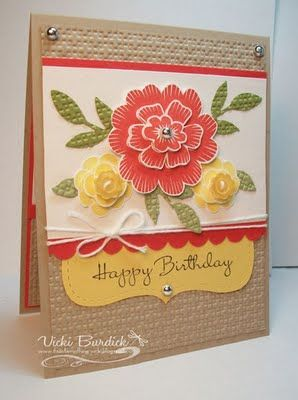 Array of Sunshine stampset (Stampin' Up) - love the use of the Top Note die on the bottom