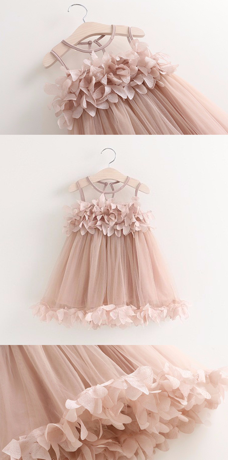 16a12a51c19f5 Blush Pink Flower Tutu Dress for Baby Girl - Great for girls birthday outfit,  photoshoots, princess party, flower girl