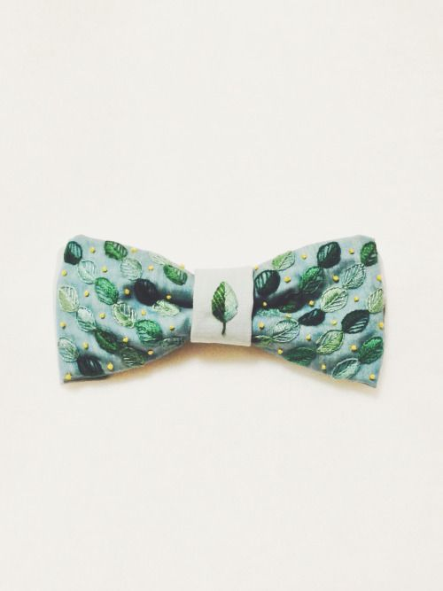 ayumi embroidery works  #embroidery #wedding #groom #bowtie #leaves