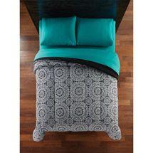 Walmart: Mainstays Microfiber Bedding Comforter, Black/White