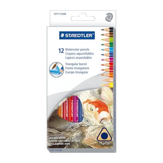 Staedtler Triangular Watercolor Pencils Watercolor Pencils