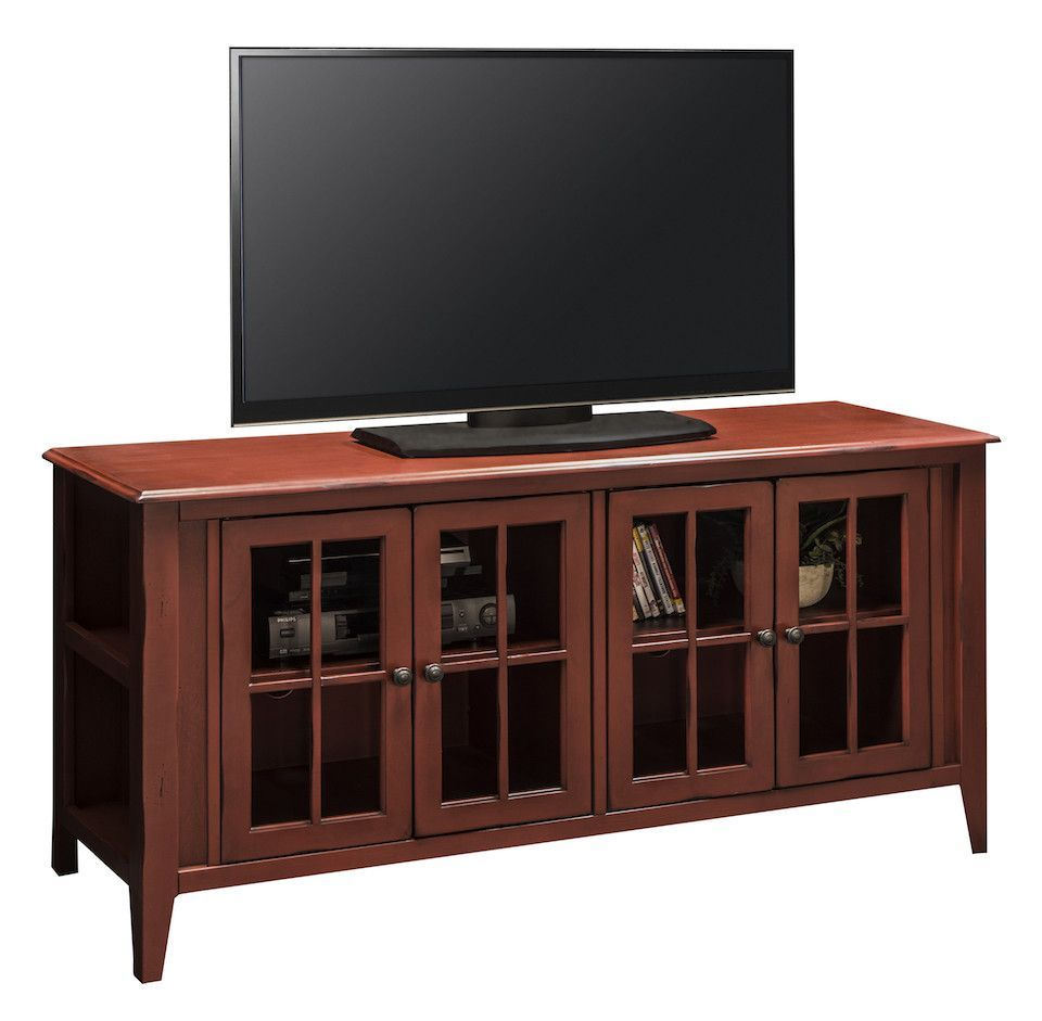 Lg ca1351 rrd 64 calistoga red tv stand red tv stand tv calistoga red tv stand 63 w x 17 d x 31 h 4 glass doors 1 shelf behind each pair of doors each shelf is 25 wide geotapseo Image collections