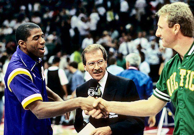 Magic Johnson And Larry Bird Larry Bird Lakers Vs Magic Johnson