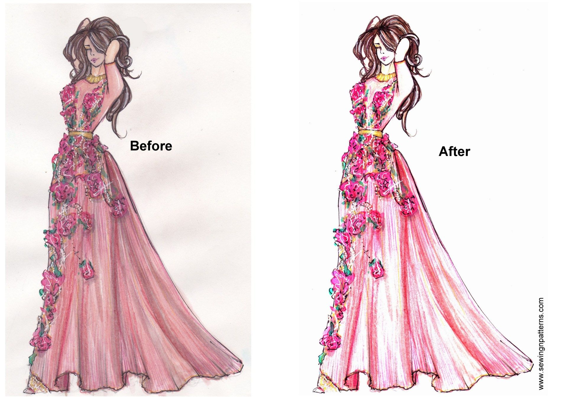 How To Present Fashion Sketches To Reach More People And