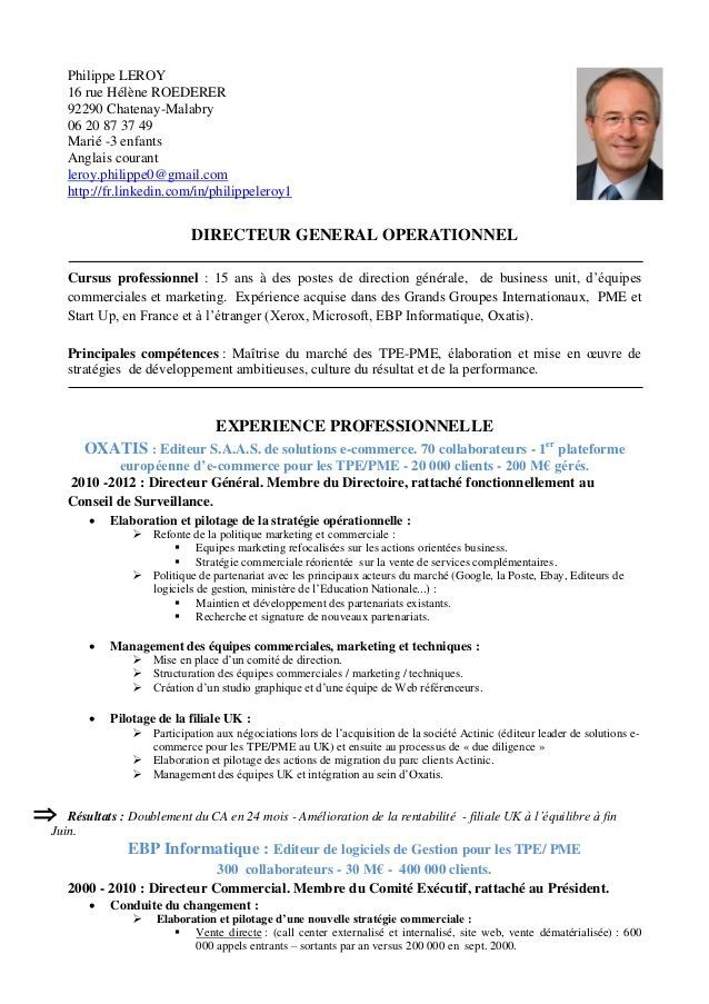 image result for cv en francais exemple
