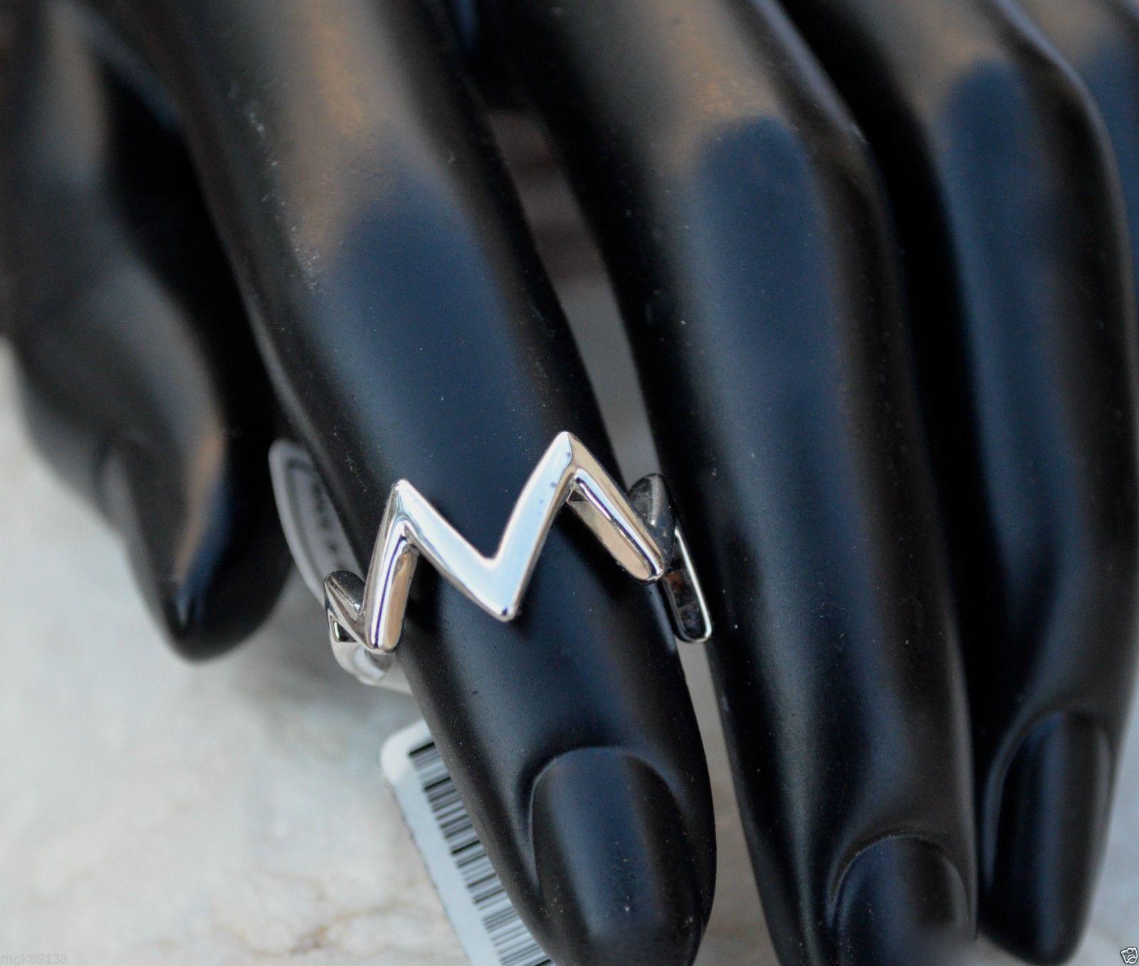 New zig zag ring size rhodium silver midi wedding u engagement