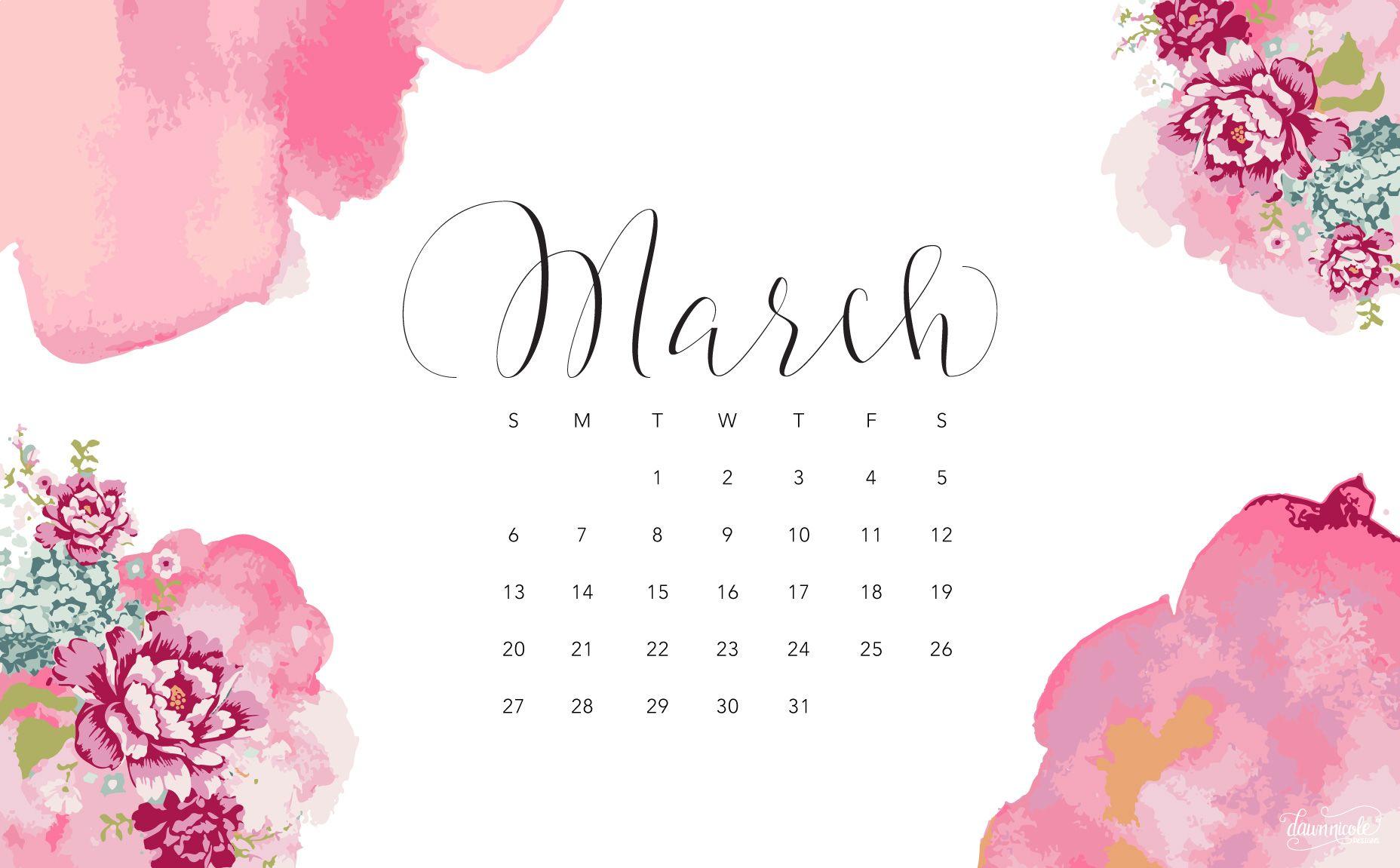 Calendar Wallpaper March : March calendar desktop download g