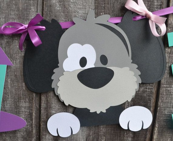 Dog Birthday Party Banner Puppy Birthday Party by CraftedOccasions