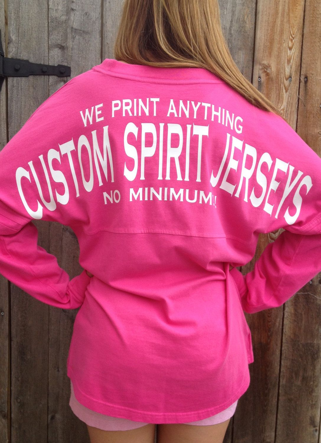 Custom Spirit Jerseys! No minimum order! great for school spirit ...