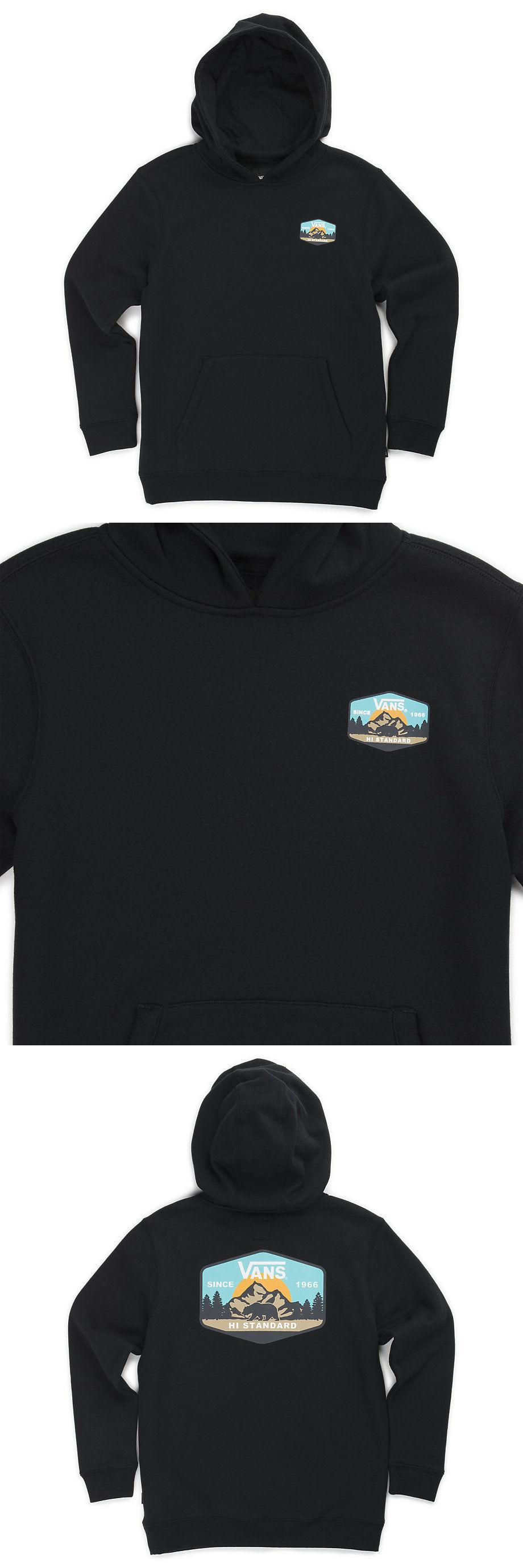 acc93be395 Sweatshirts and Hoodies 57916  Brand New Boys Vans Mtn Hi Standard Pullover  Hoodie Black Youth Medium -  BUY IT NOW ONLY   35 on eBay!