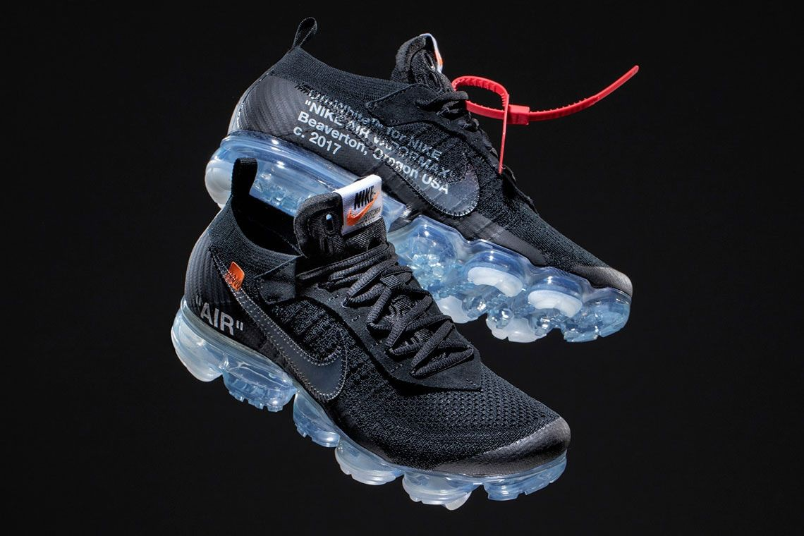 Take A Closer Look At The Virgil Abloh X Nike Air Vapormax In All Black Sneakers Men Fashion Sneakers Fashion Womens Sneakers