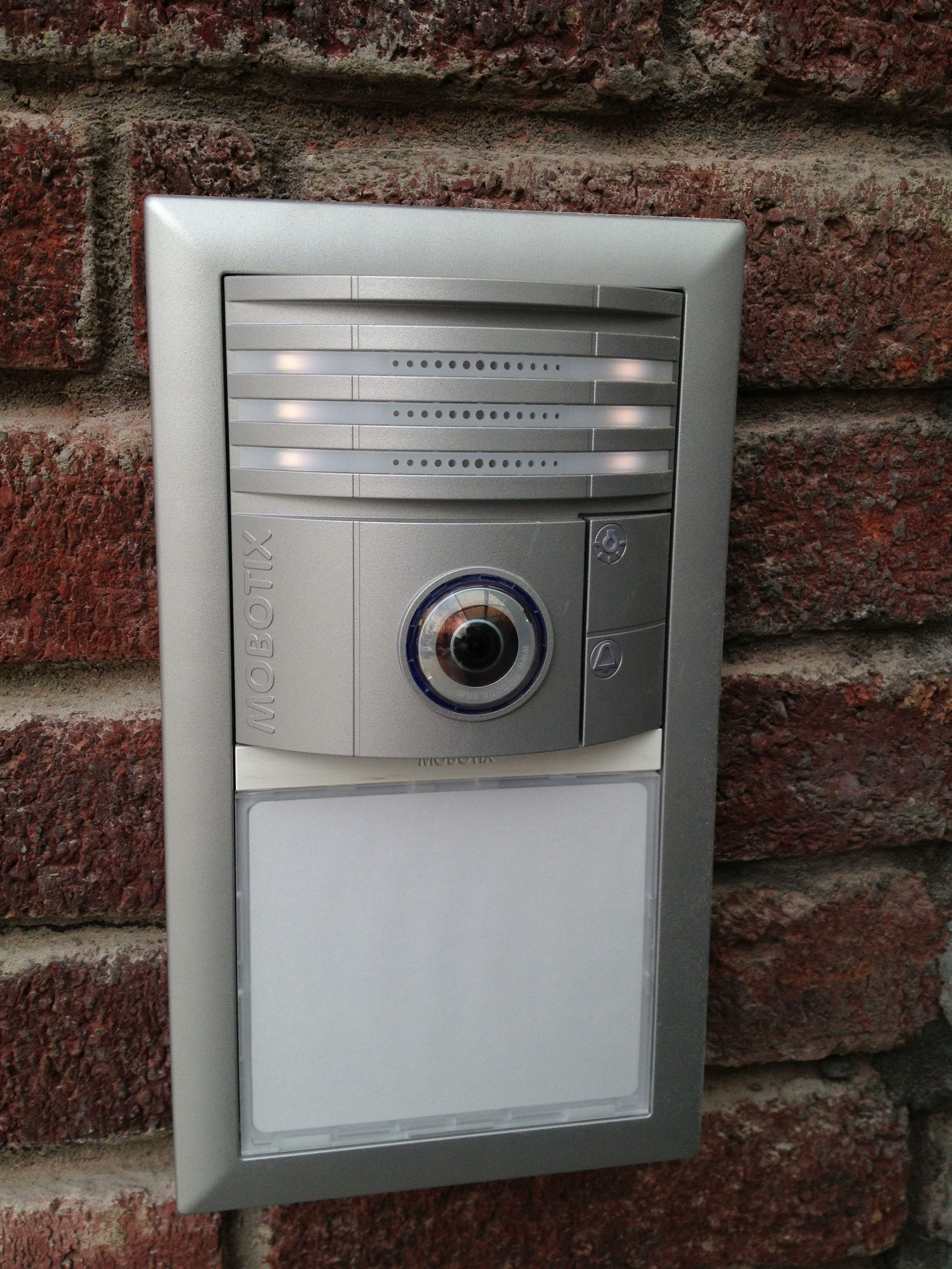 Mobotix front door video intercom for your home or for Front door video intercom