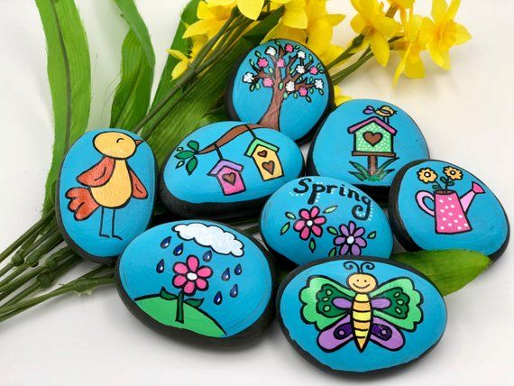 Spring Story Stones, Spring Story Starters, Spring