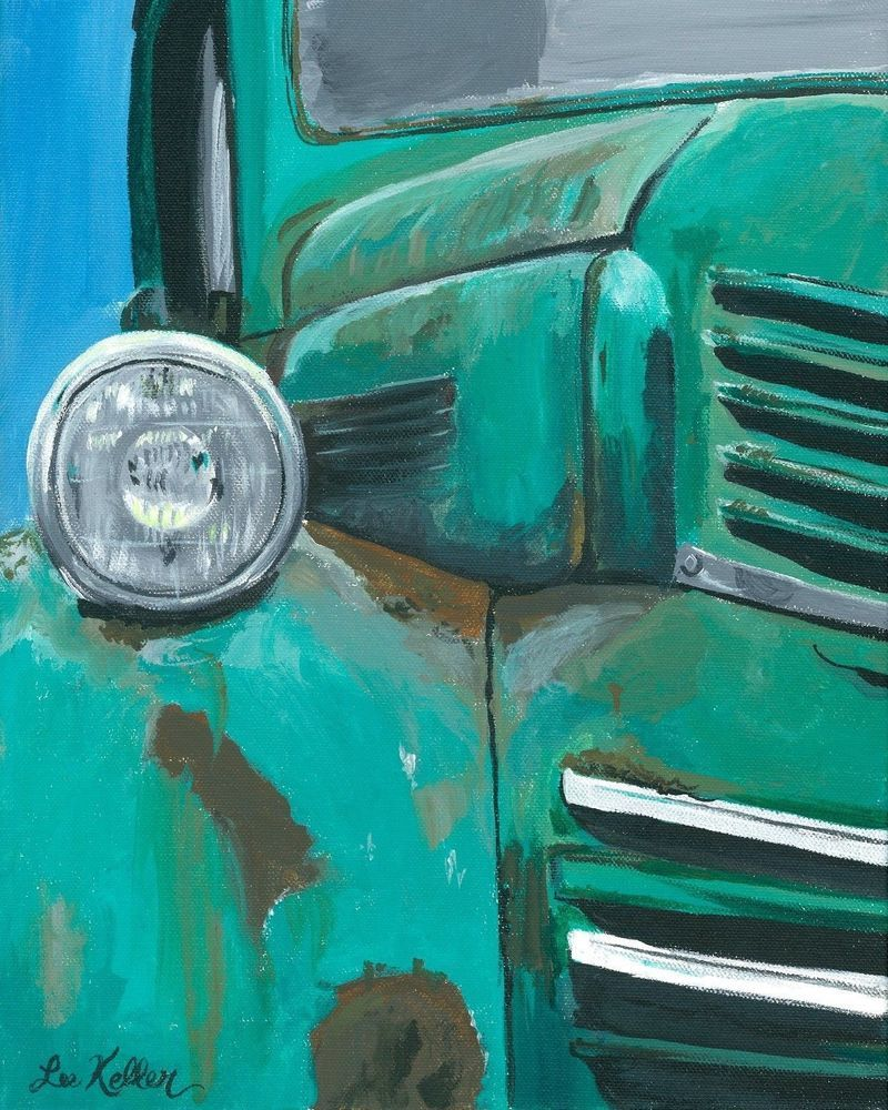 Truck print old truck rustic art from original painting x