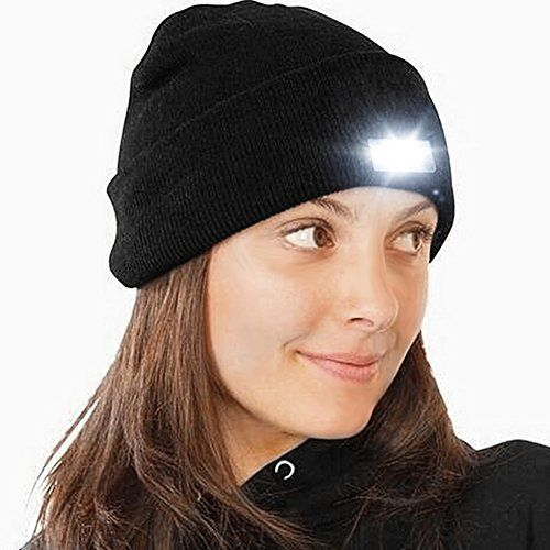Beanie Hat with Light b0485701c4a4