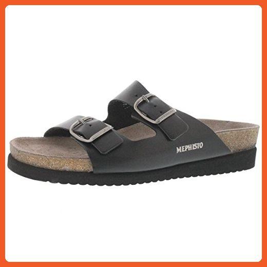 Mephisto Womens 2800 Harmony Black Leather Sandals 38 EU - Sandals for women (*Amazon Partner-Link)