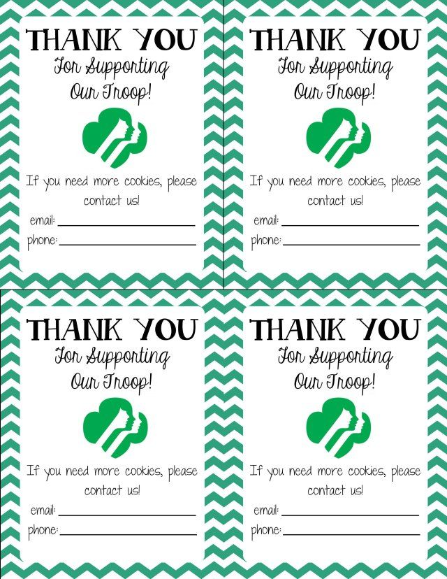 image relating to Girl Scout Cookie Thank You Note Printable called Its Woman Scout Cookie Season! Female Scouts Cub Scouts