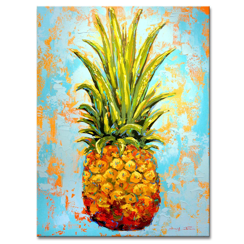 Fiesta Gigantesca Xl Canvas Wall Decor Pineapple Painting Canvas Wall Decor Pineapple Art