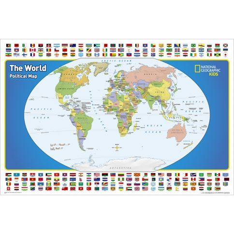 The world for kids wall map wall maps and sunday school national geographic the world for kids wall map is an enticing and engaging world map perfect for classroom home or library gumiabroncs Images