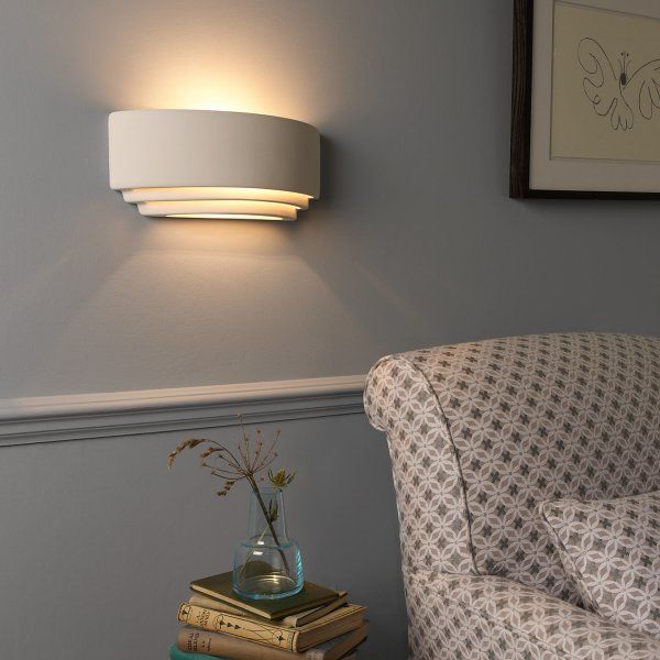 7c8a7ee37be5 AMALFI double insulated paintable white ceramic wall light ...