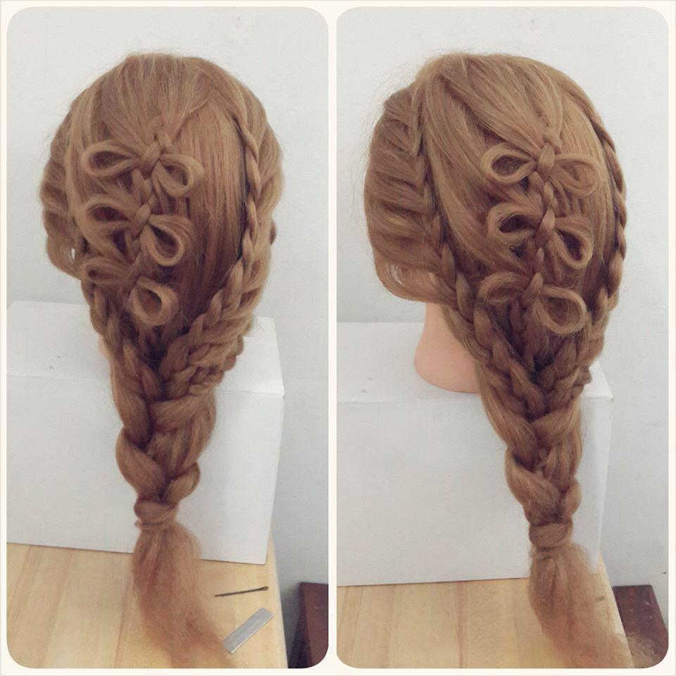 ribbon hair hairstyle, sweet , bridal hairstyles, braid,rainne yap ...