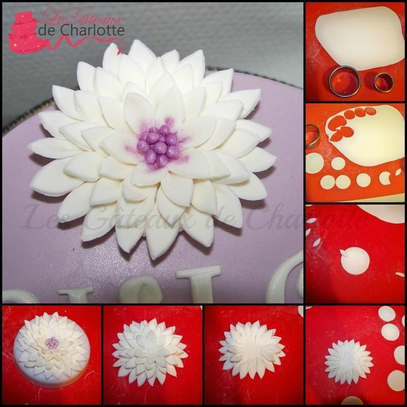 Tutoriel fleur en p te sucre for Faire des decors en pate a sucre