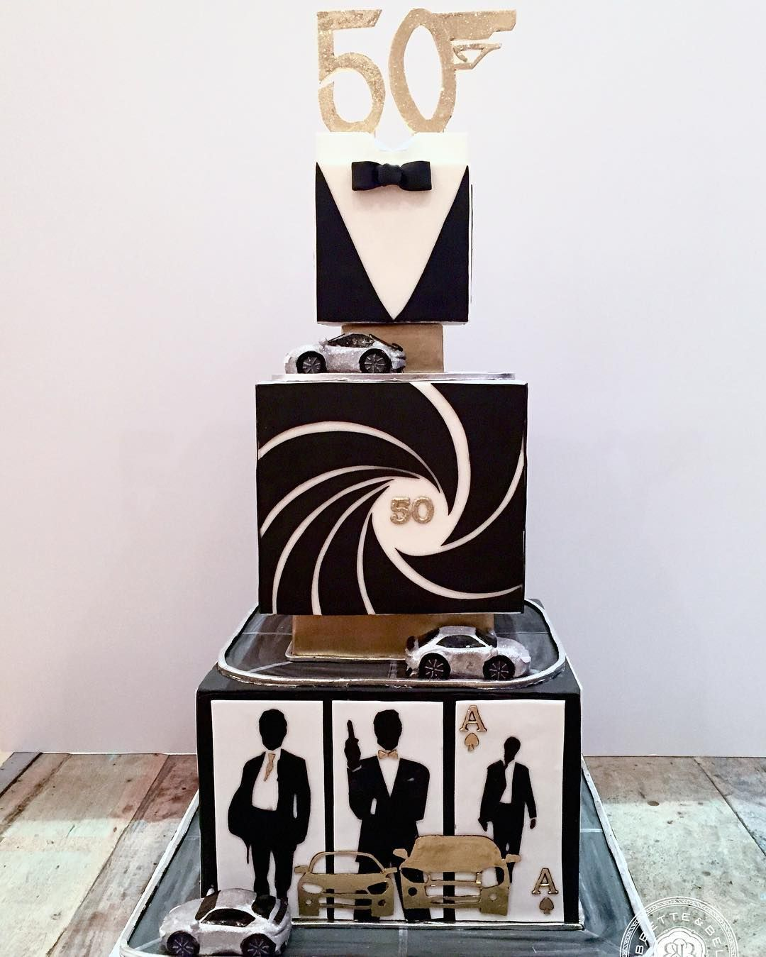this super sleek and sexy cake was inspired by james bond 007 it was the perfect way for our. Black Bedroom Furniture Sets. Home Design Ideas