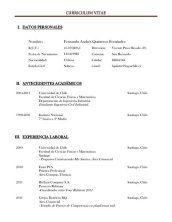 Formato Basico De Curriculum Vitae Narco Penantly Co