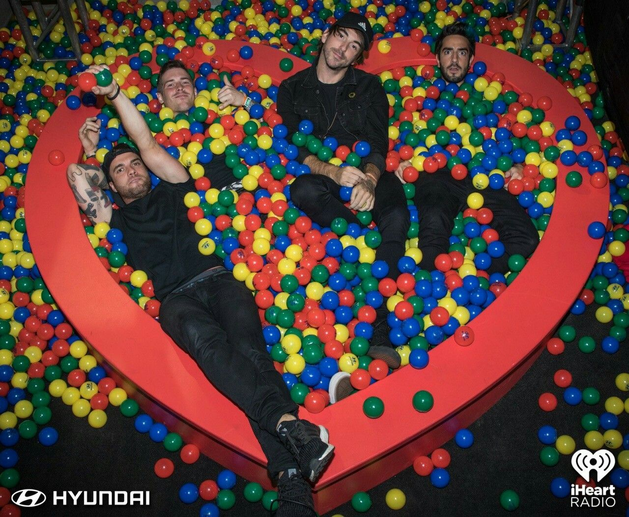 All Time Low in a ball pit *-*