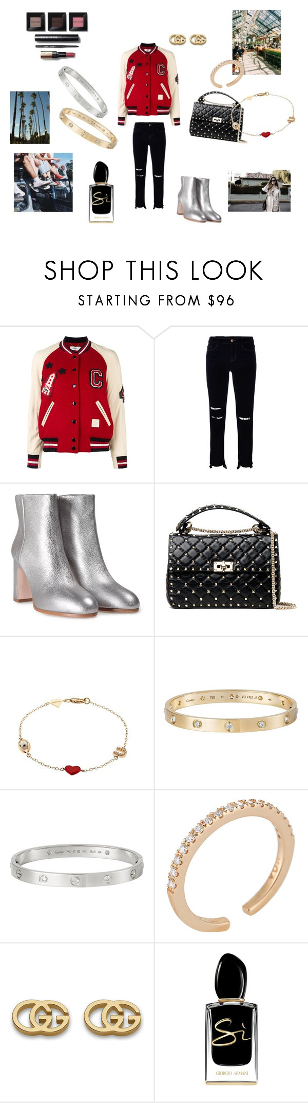 """Fabulous bomber"" by maria-chamourlidou ❤ liked on Polyvore featuring Coach, J Brand, Miu Miu, Valentino, Urban Outfitters, Alison Lou, Cartier, Noa, Gucci and Giorgio Armani"