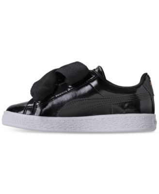ae4a00c892af Puma Little Girls  Basket Heart Glam Casual Sneakers from Finish Line -  Black 2.5