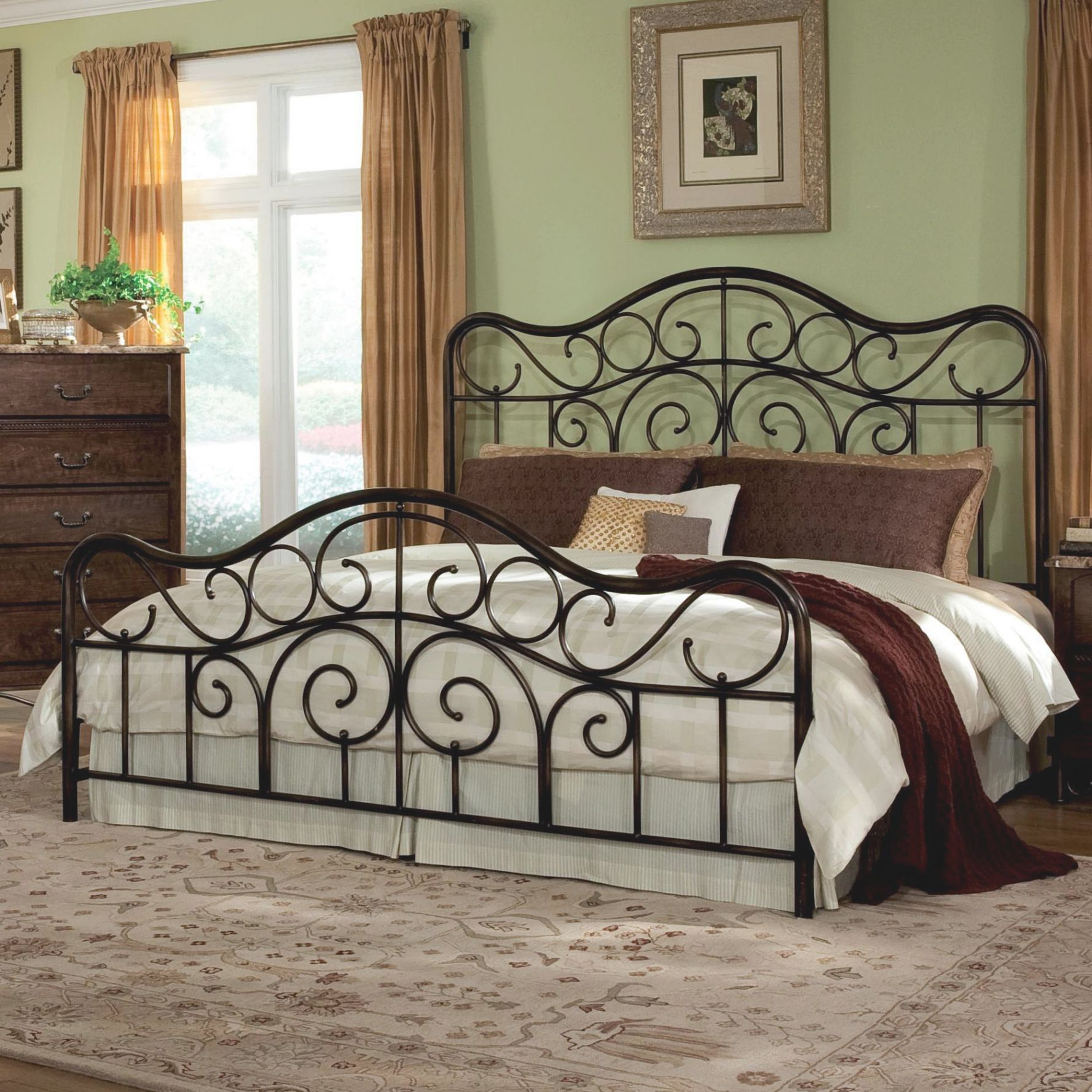 King Size Metal Headboard And Footboard Check more at http://www ...