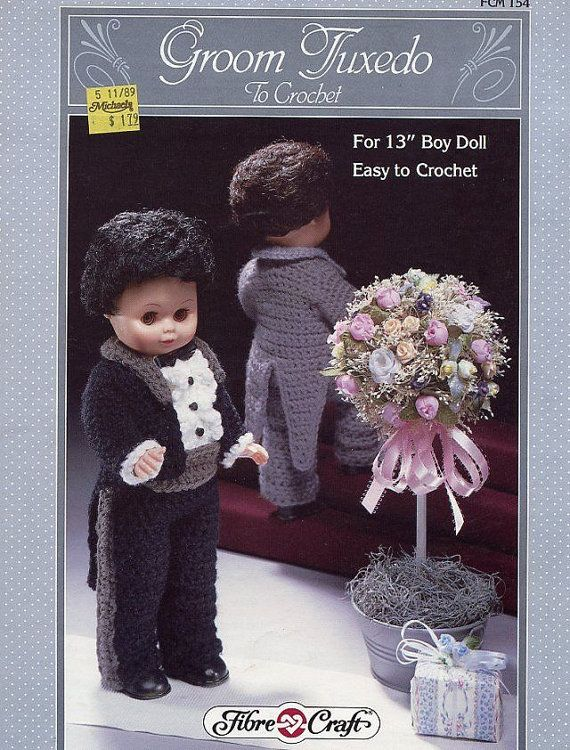 Groom Tuxedo Fibre Craft Crochet Male Doll Wedding Clothes Pattern
