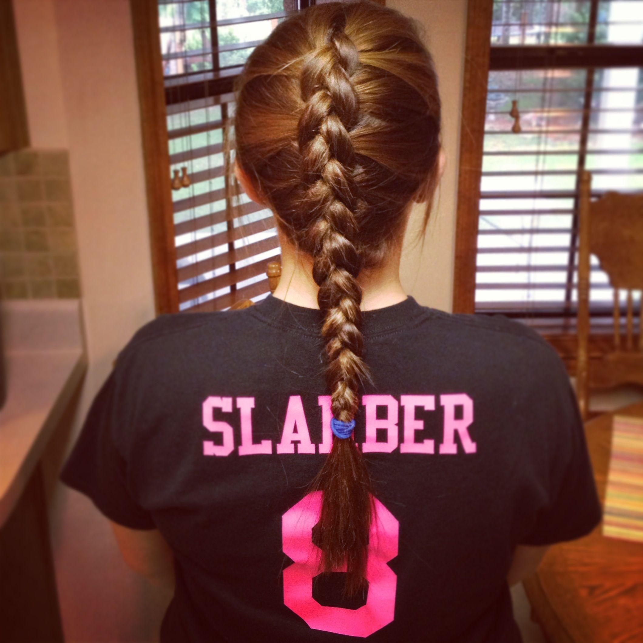 My Hair For Volleyball Practice Volleyballhair Hair Braid Insideout Loveit Braidedhairstyles Brai Hair Styles Volleyball Hairstyles Volleyball Braids