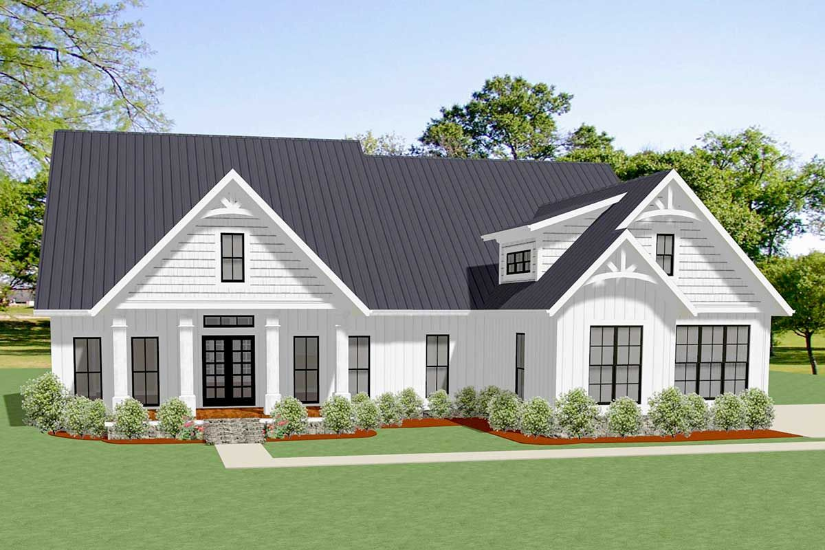 Gables Of St Morris plan 46341la: 3-bed craftsman house plan with board and