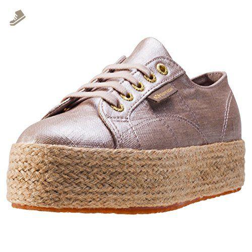 61cf2562e75 Superga 2790 Flatform Linea Rope Womens Trainers Beige - 5 UK - Superga  sneakers for women ( Amazon Partner-Link)