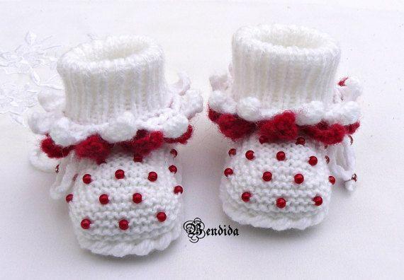 Photo of Geschenk für Mama sein Baby Girl Booties Baby Girl Schuhe, häkeln Babyschuhe gestrickt Baby B…