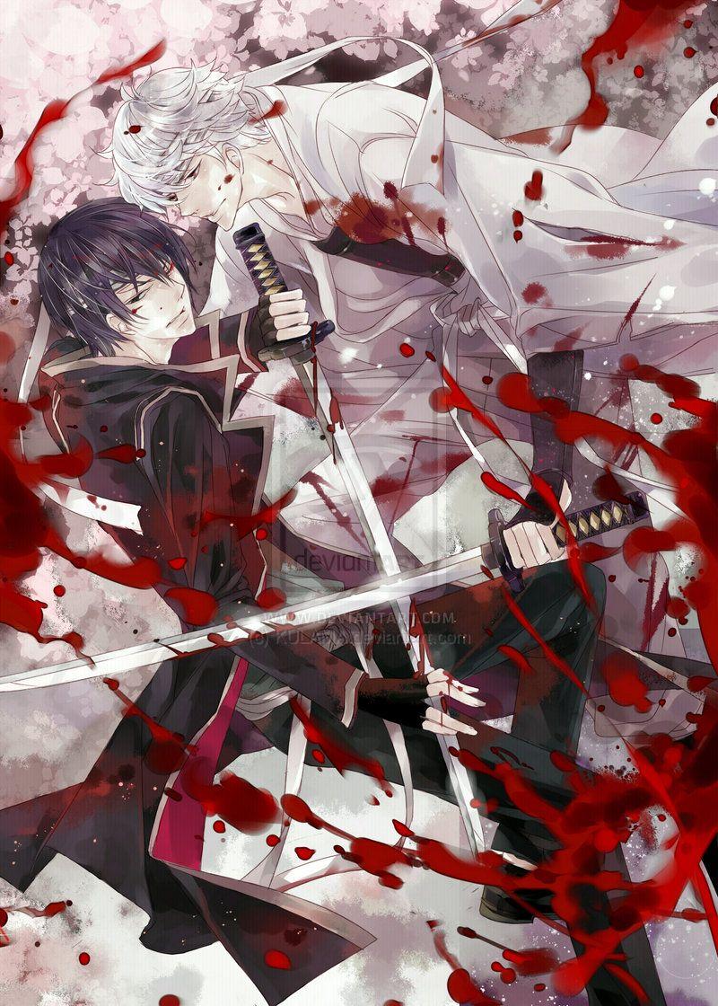 Gintama - Gintoki x Takasugi by KULAMA on DeviantArt