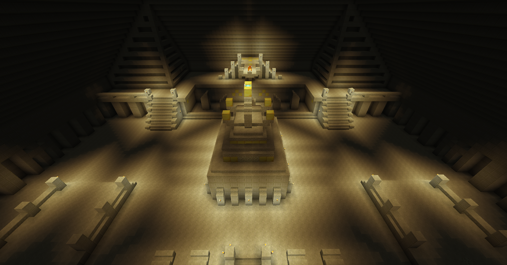 Pyramid Interior Cool Art Minecraft