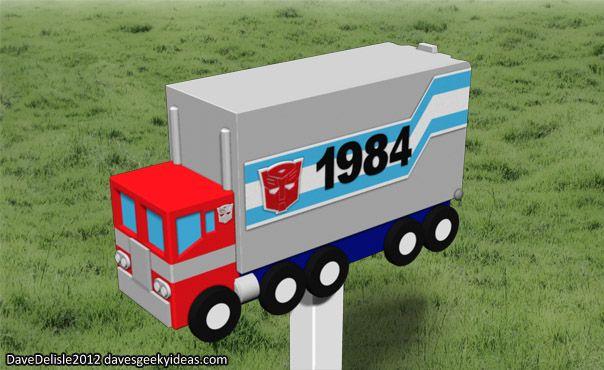 Optimus Prime Mail Box