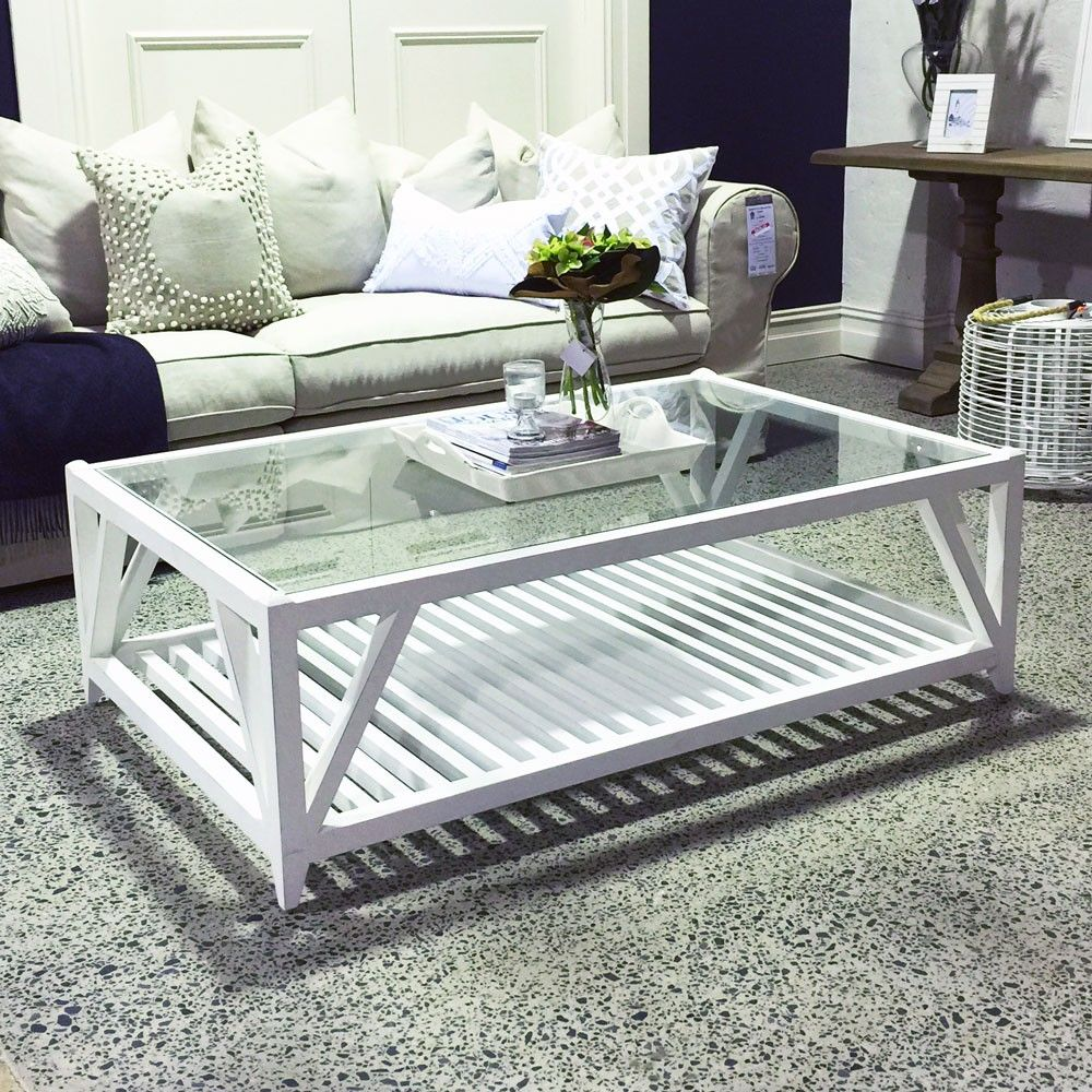 Exceptionnel Portland Rectangular Coffee Table   Antique White