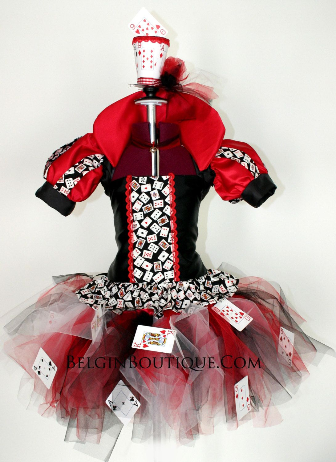 Pageant Ooc Baby Girl Toddler Queen Of Hearts Poker Cards